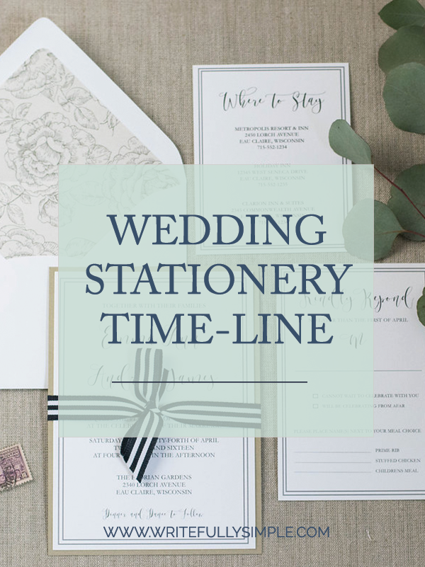 Wedding Stationery Time-line