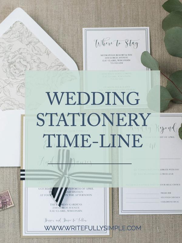 Wedding Stationery Time-line