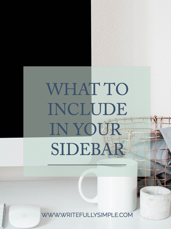 What To Include In Your Sidebar