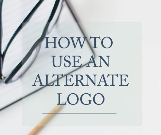 How to Use an Alternate Logo | www.writefullysimple.com