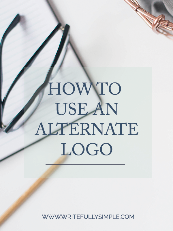 How to Use an Alternate Logo | www.writefullysimple.com