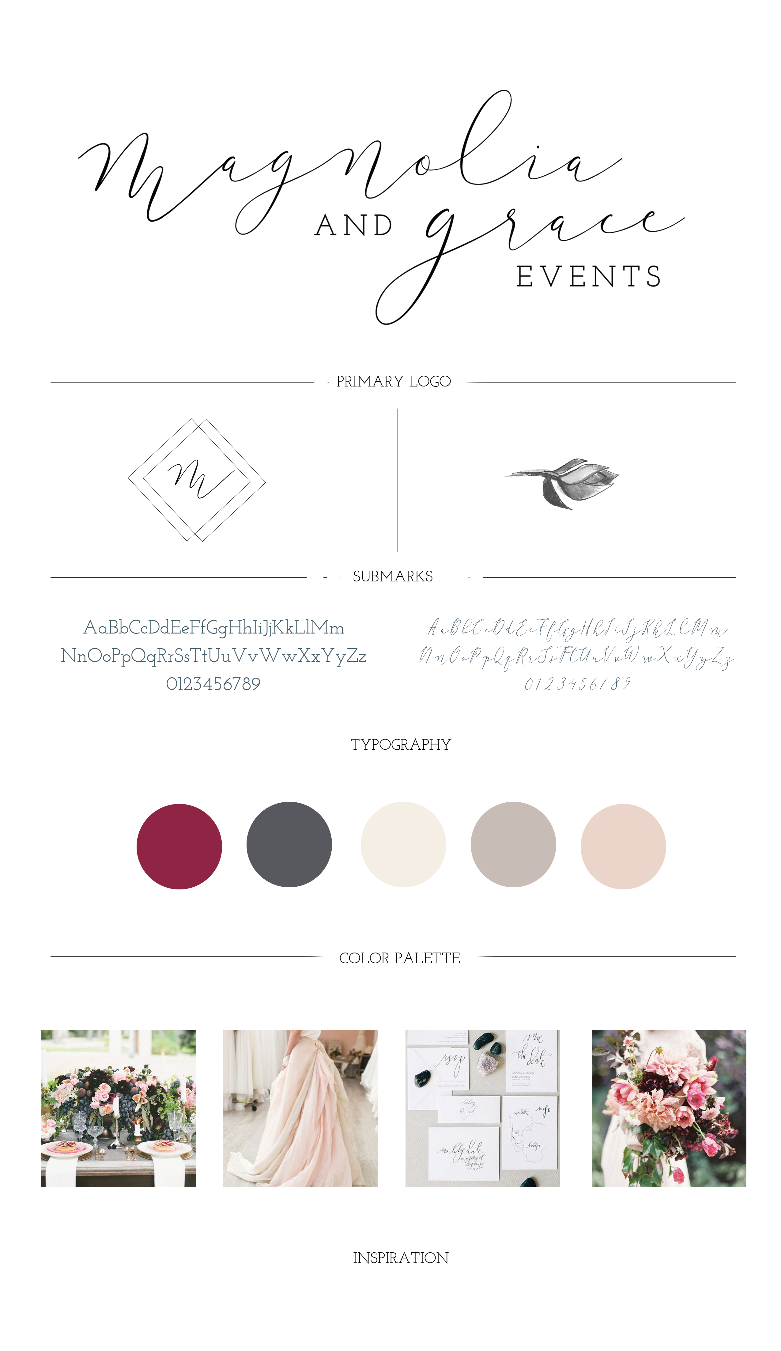 Magnolia & Grace Events Brand Guide
