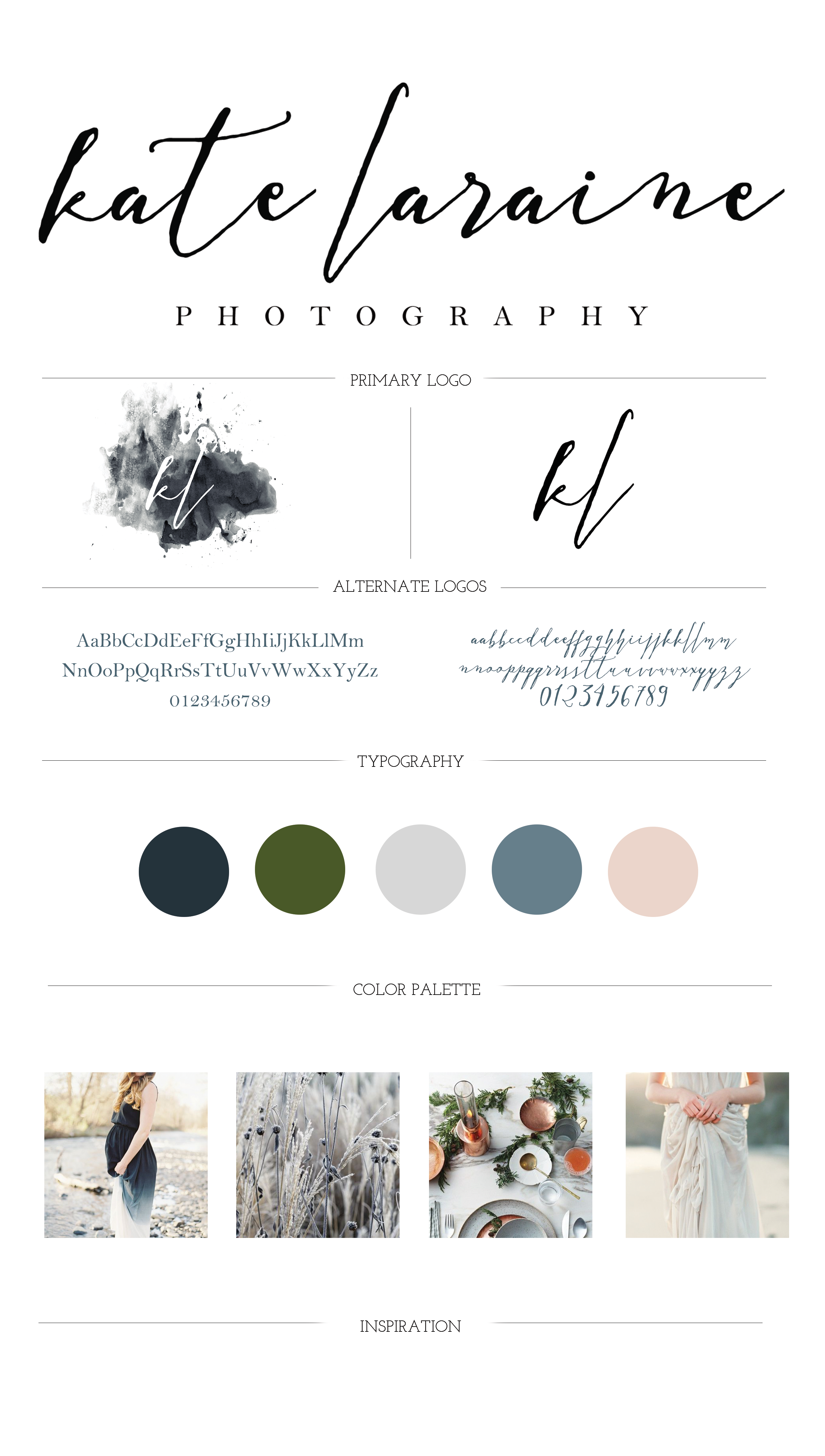 Kate Laraine Photography Branding Guide | Writefully Simple