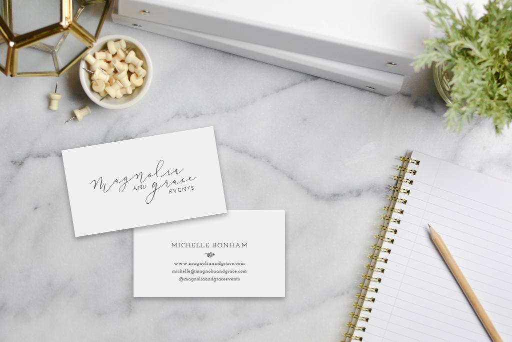 Magnolia & Grace Events Business Cards