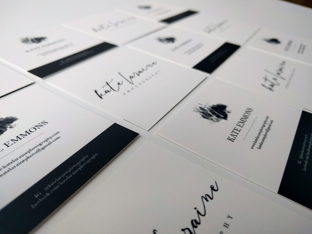 Kate Laraine Photography Business Cards
