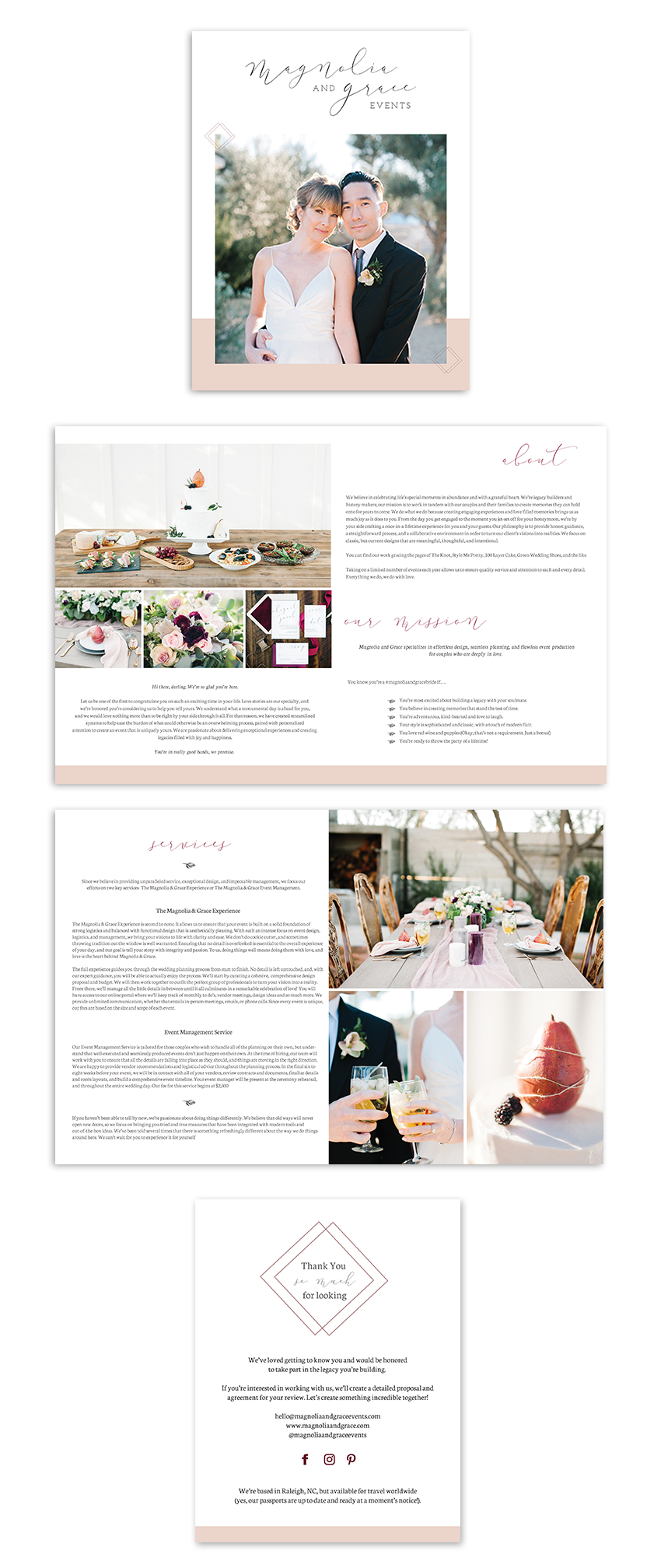 Magnolia & Grace Events Client Welcome Packet | Writefully Simple