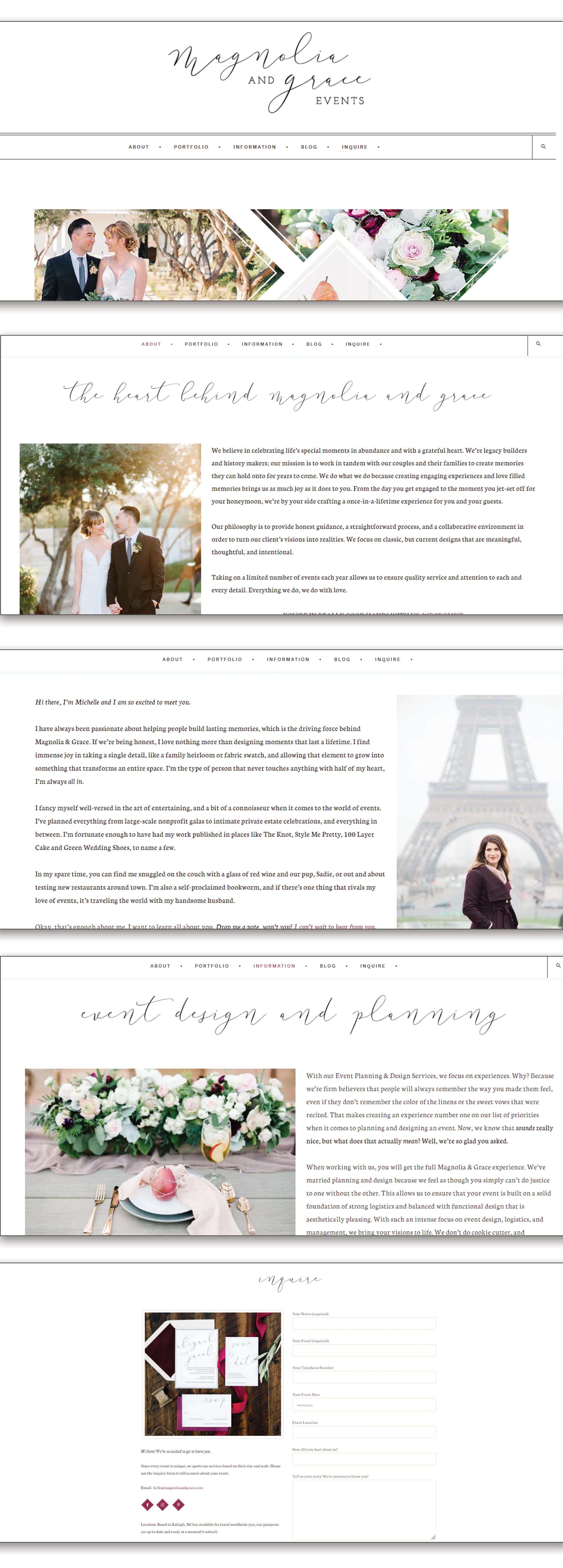 Magnolia & Grace Website