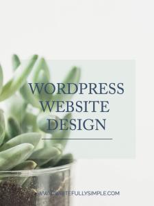 WordPress Website Design   Writefully Simple