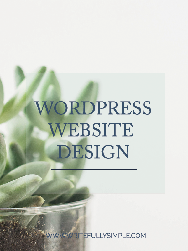 WordPress Website Design | Writefully Simple