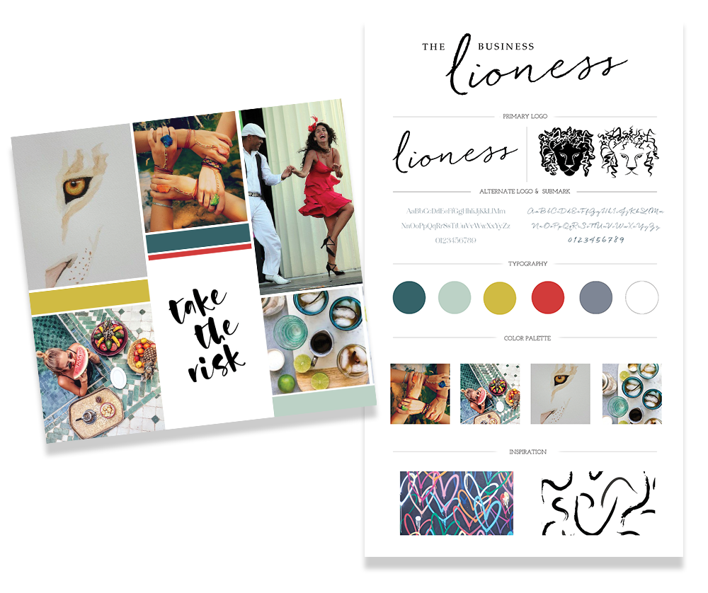 Brand Collage (The Business Lioness)